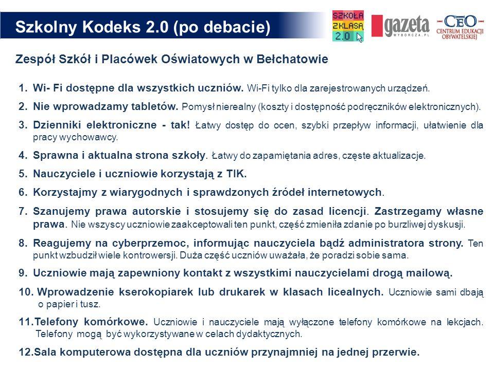 Szkolny Kodeks 2.0 (po debacie)