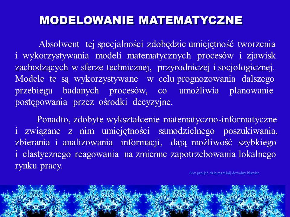 MODELOWANIE MATEMATYCZNE