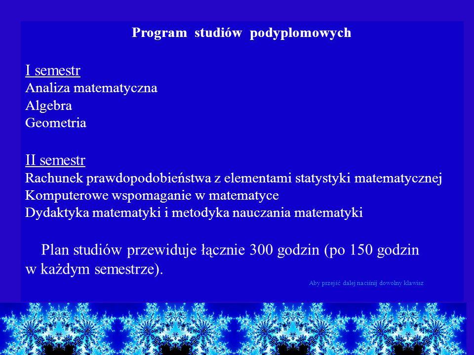 Program studiów podyplomowych