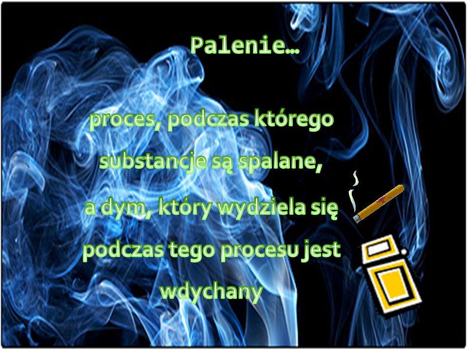 Palenie… proces, podczas którego substancje są spalane,