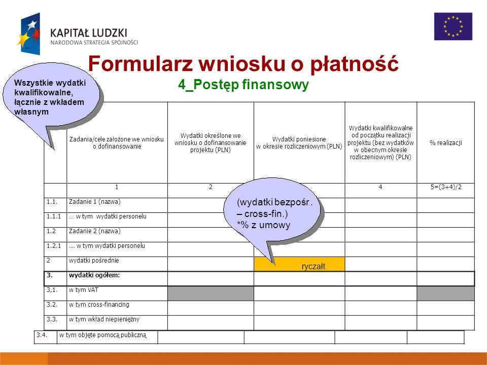 Formularz wniosku o płatność 4_Postęp finansowy