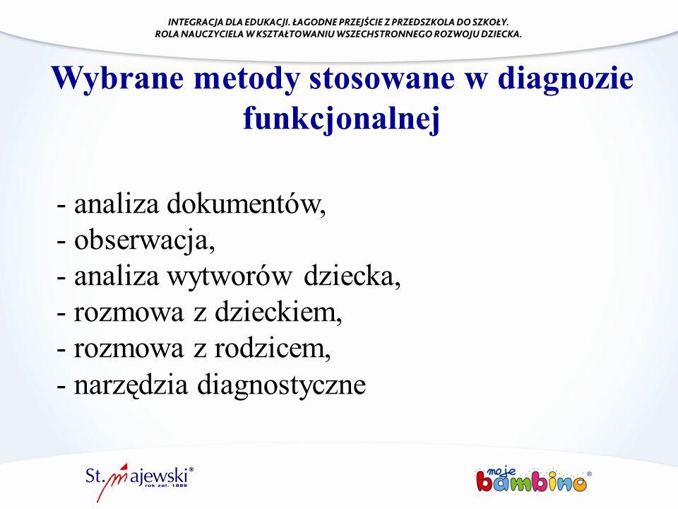 Wybrane metody stosowane w diagnozie funkcjonalnej