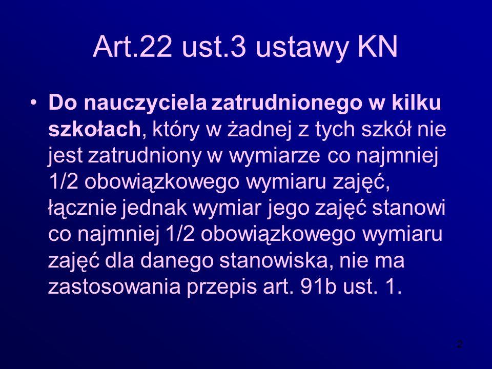 Art.22 ust.3 ustawy KN