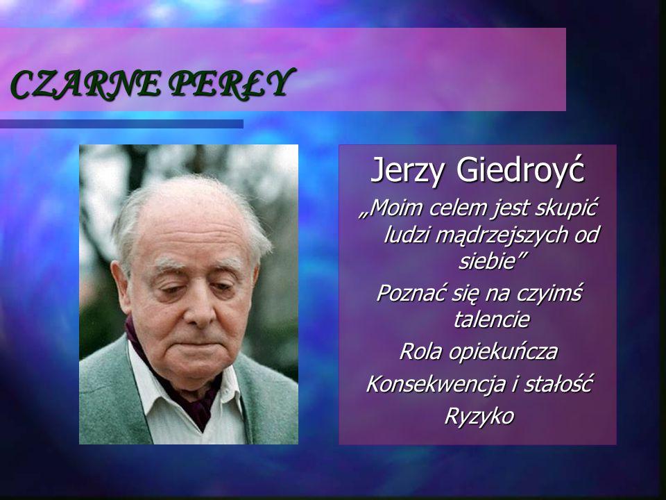 CZARNE PERŁY Jerzy Giedroyć