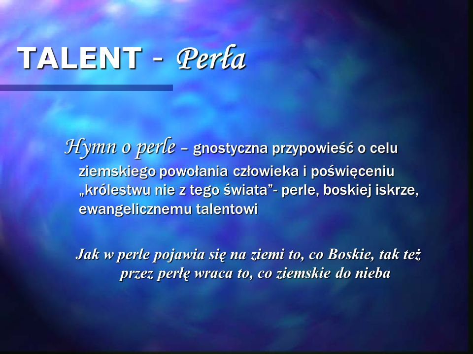 TALENT - Perła