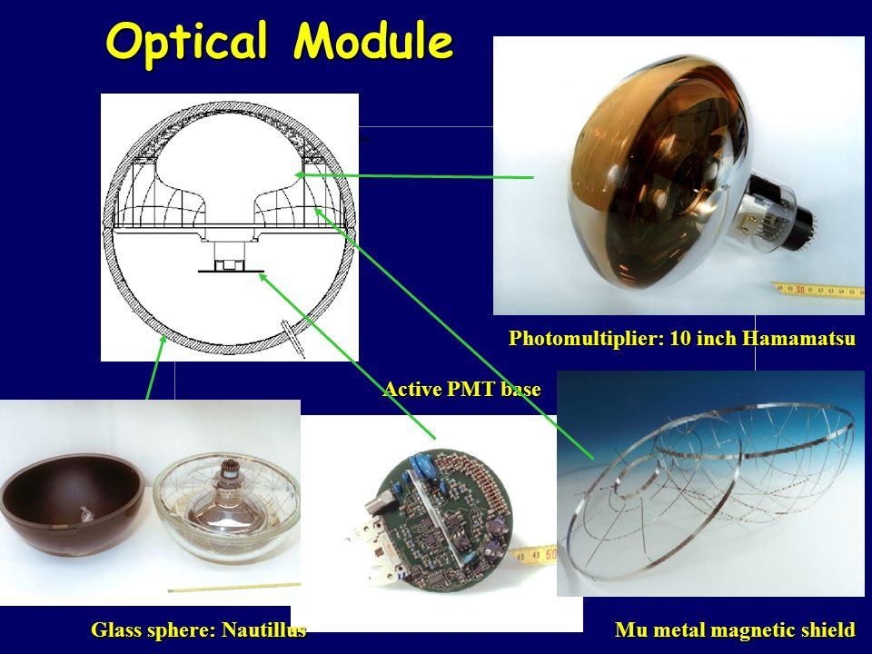 Optical Module Photomultiplier: 10 inch Hamamatsu Active PMT base