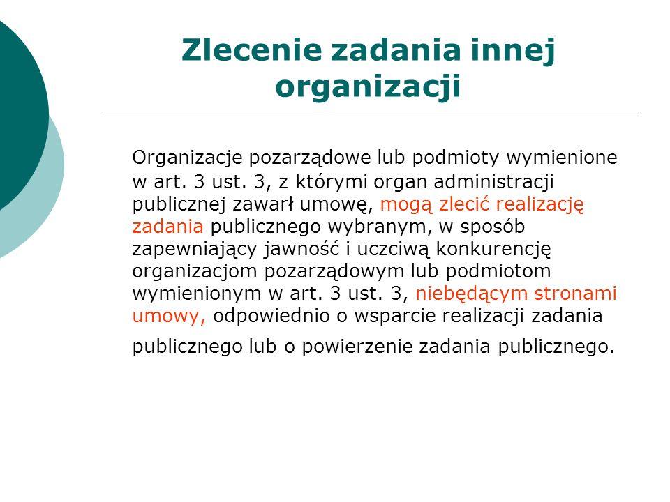 Zlecenie zadania innej organizacji