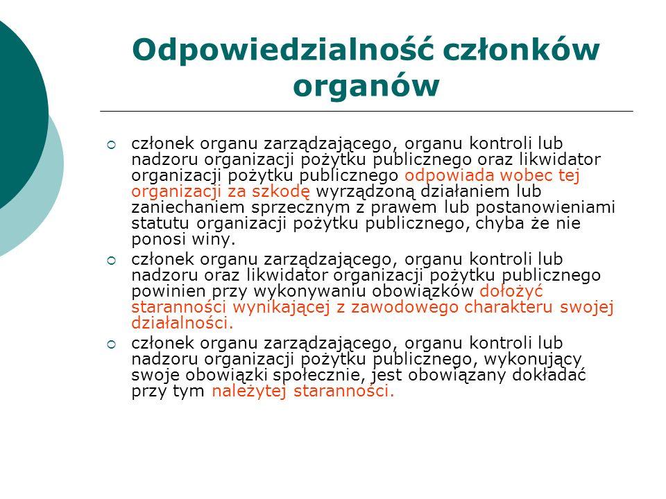 Odpowiedzialność członków organów