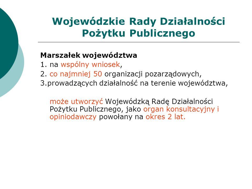 Wojewódzkie Rady Działalności Pożytku Publicznego