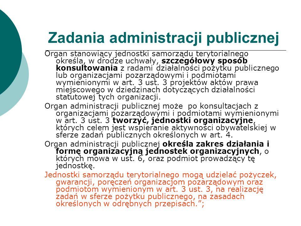 Zadania administracji publicznej