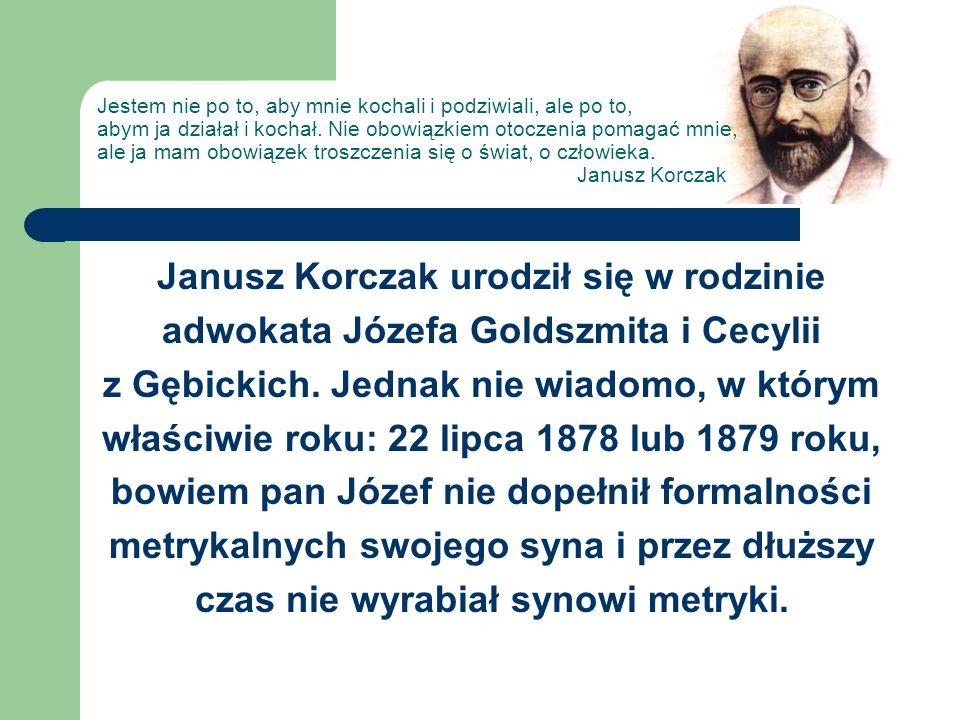 Janusz Korczak urodził się w rodzinie