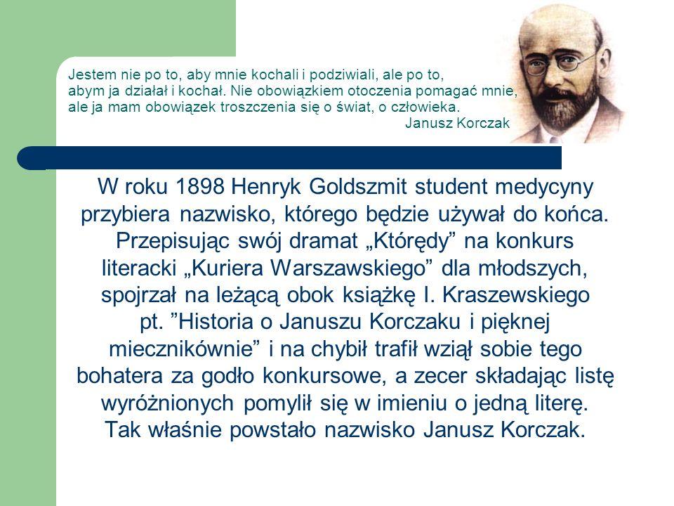 W roku 1898 Henryk Goldszmit student medycyny