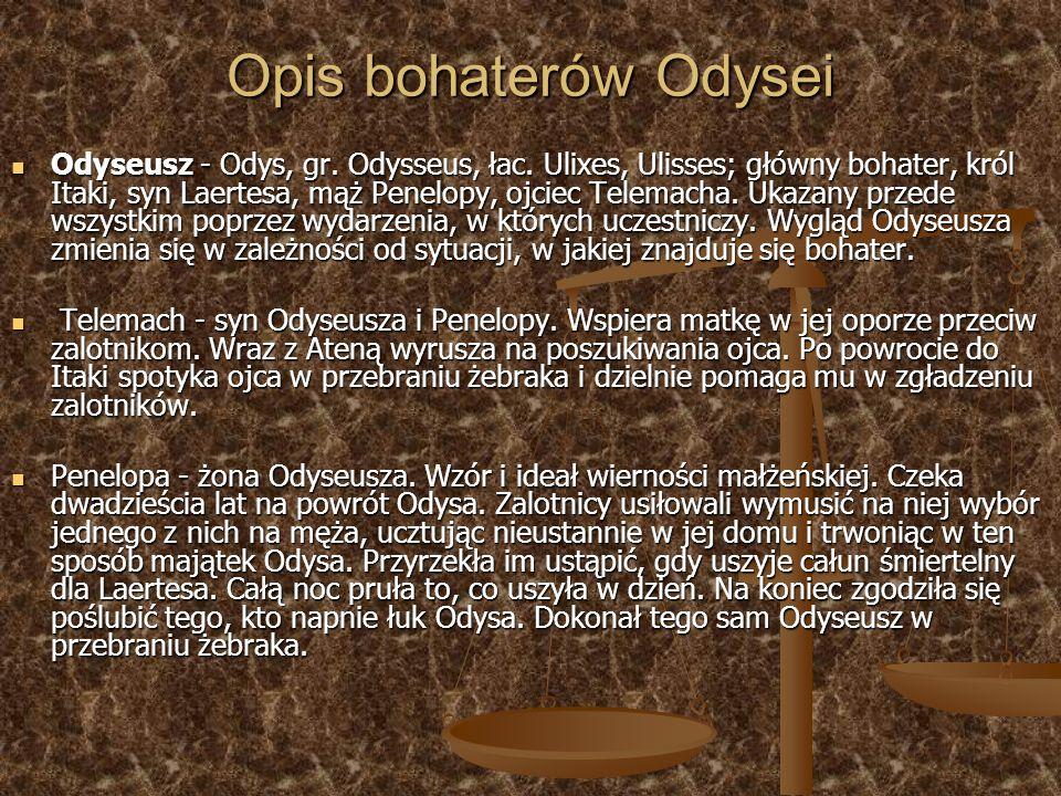 Opis bohaterów Odysei