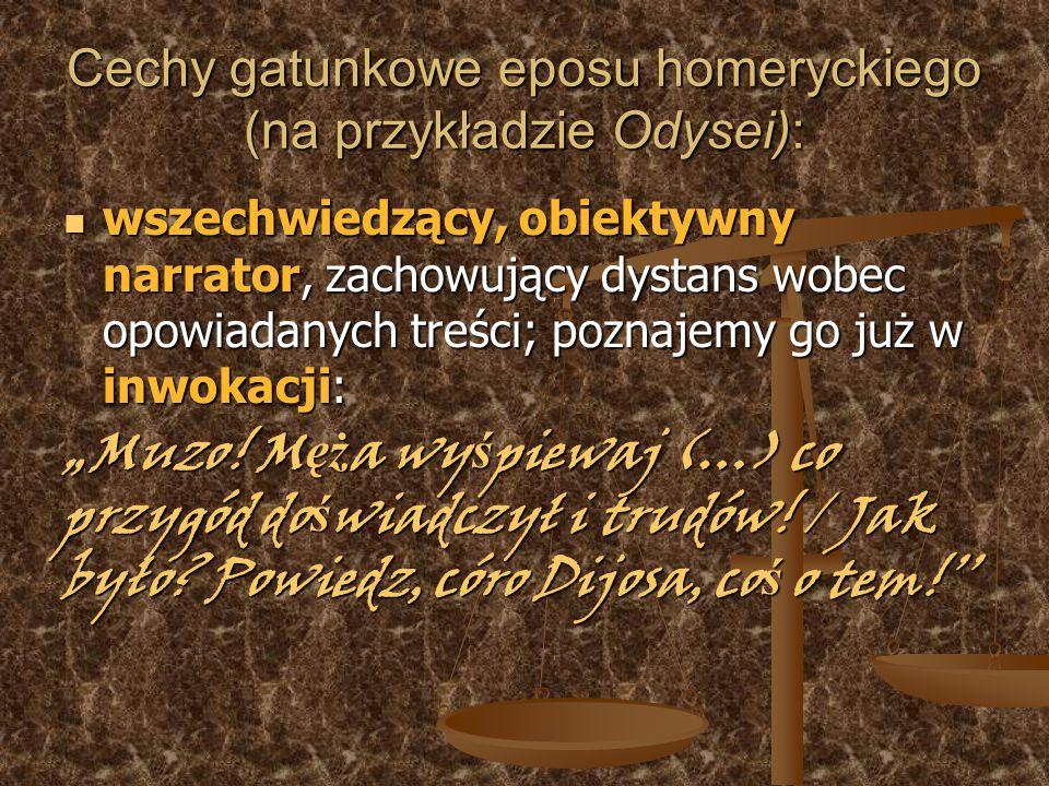 Cechy gatunkowe eposu homeryckiego (na przykładzie Odysei):