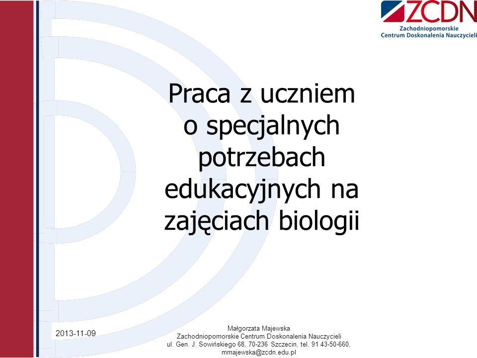 o specjalnych potrzebach edukacyjnych na zajęciach biologii