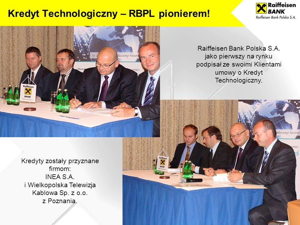 Kredyt Technologiczny – RBPL pionierem!