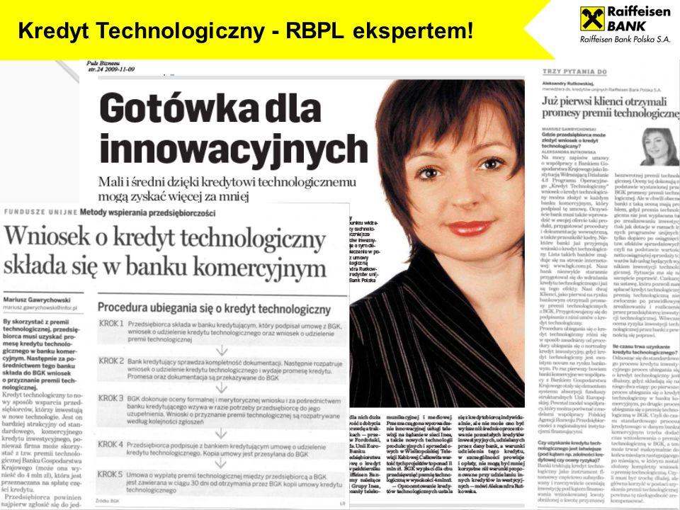 Kredyt Technologiczny - RBPL ekspertem!