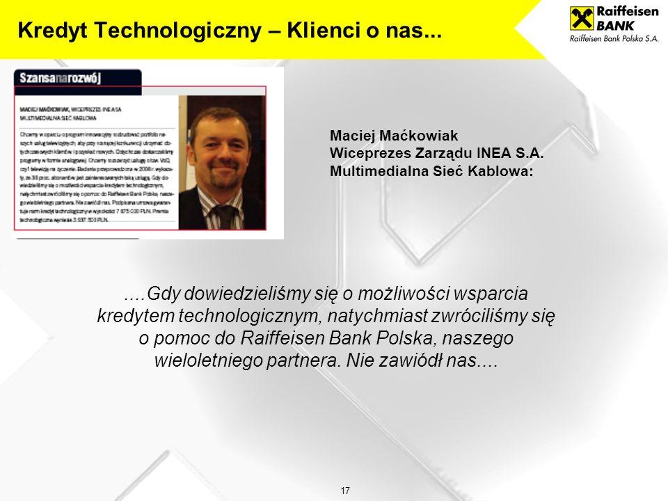 Kredyt Technologiczny – Klienci o nas...