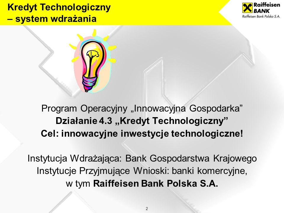 Kredyt Technologiczny – system wdrażania
