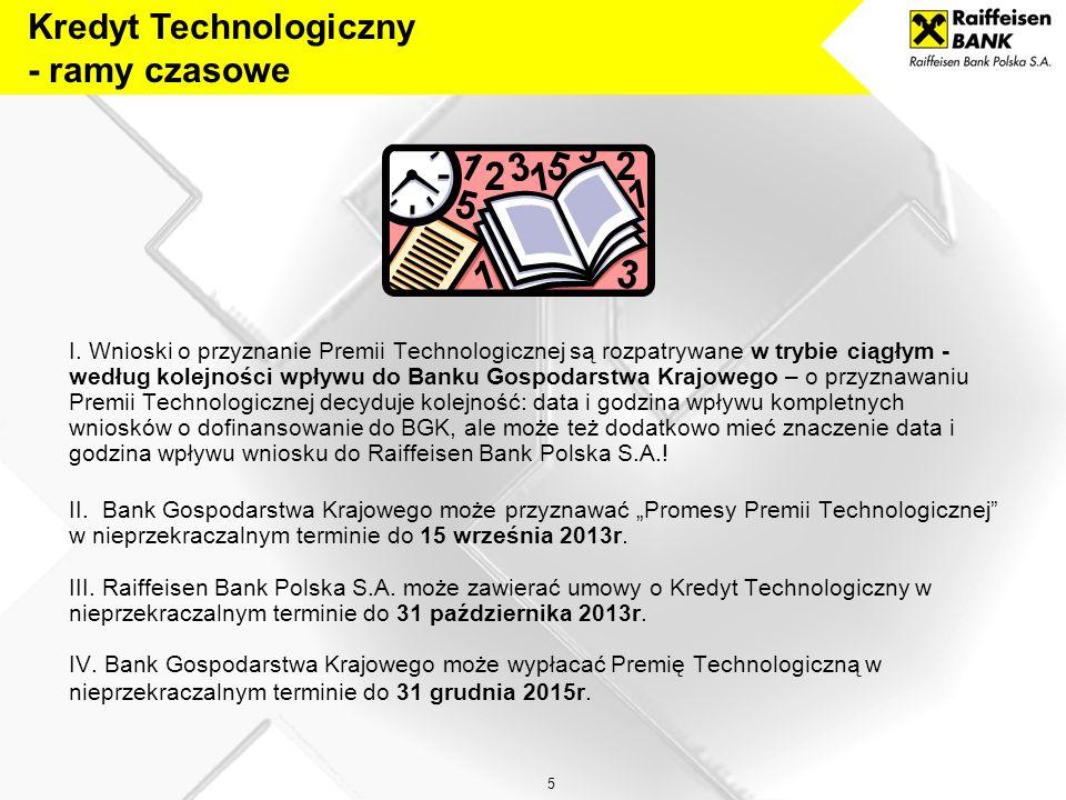 Kredyt Technologiczny - ramy czasowe