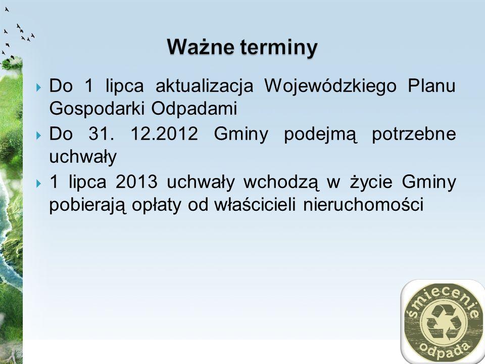 Do 1 lipca aktualizacja Wojewódzkiego Planu Gospodarki Odpadami