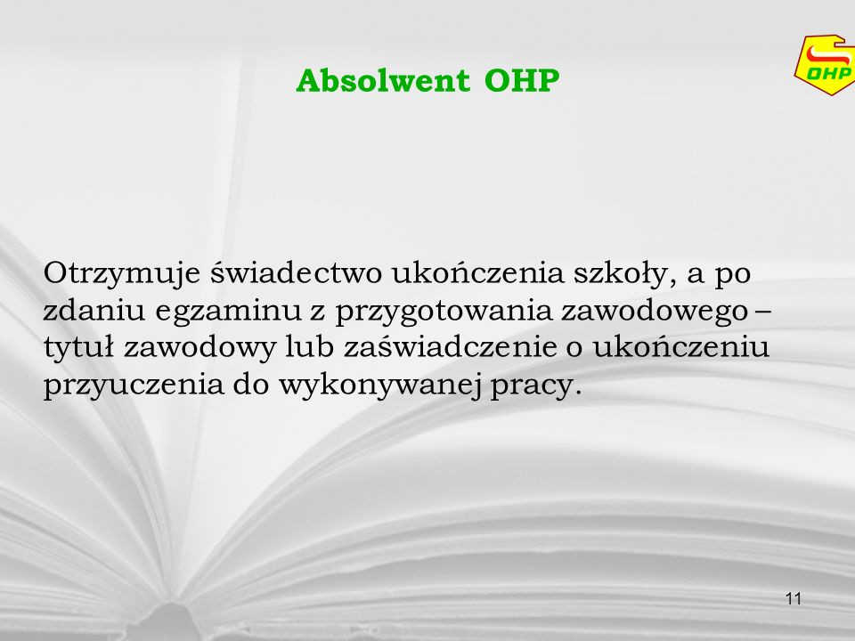 Absolwent OHP