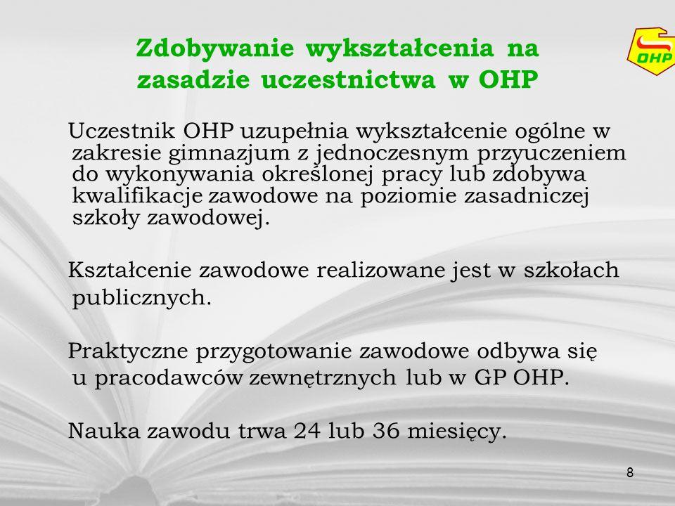 Zdobywanie wykształcenia na zasadzie uczestnictwa w OHP