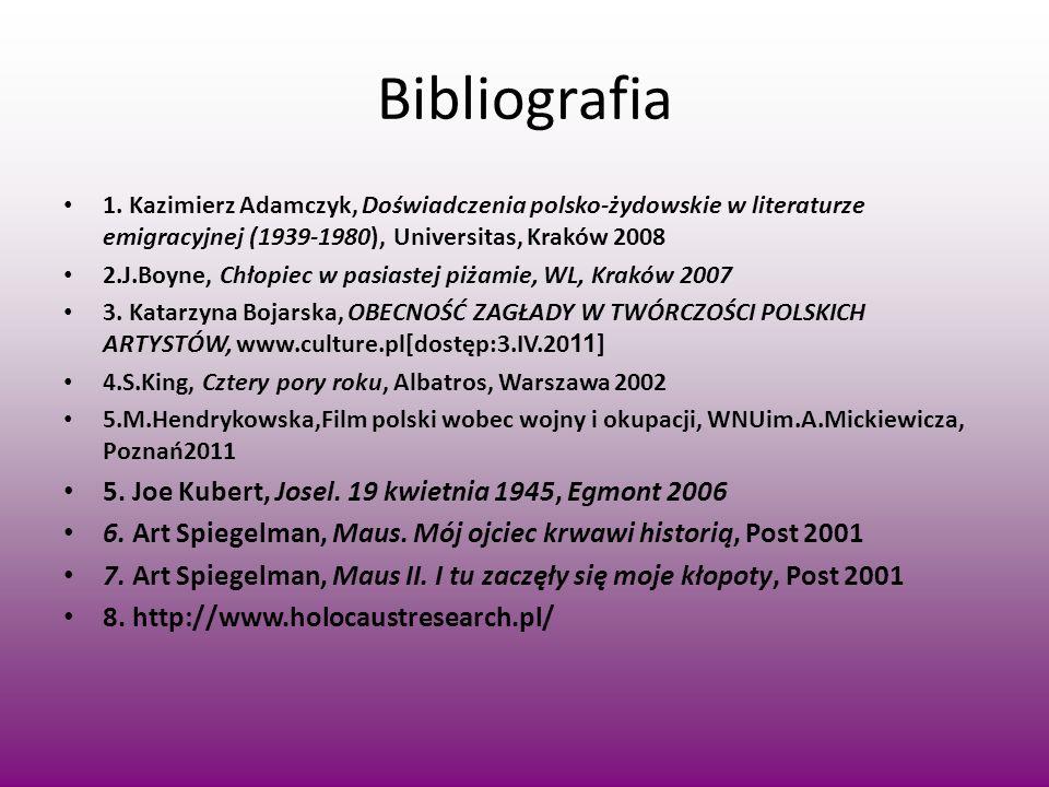 Bibliografia 5. Joe Kubert, Josel. 19 kwietnia 1945, Egmont 2006