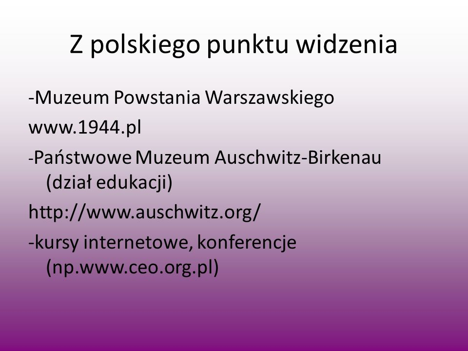 Z polskiego punktu widzenia