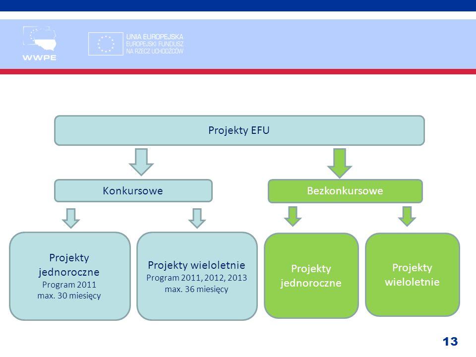 Projekty EFU Konkursowe Bezkonkursowe Projekty jednoroczne