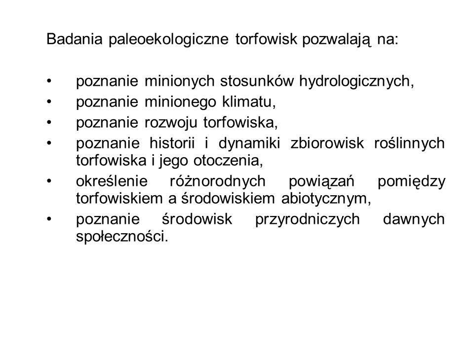 Badania paleoekologiczne torfowisk pozwalają na: