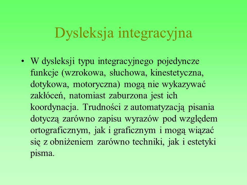 Dysleksja integracyjna