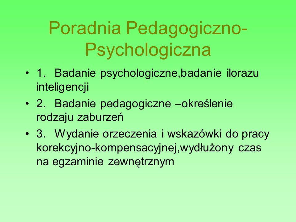 Poradnia Pedagogiczno- Psychologiczna