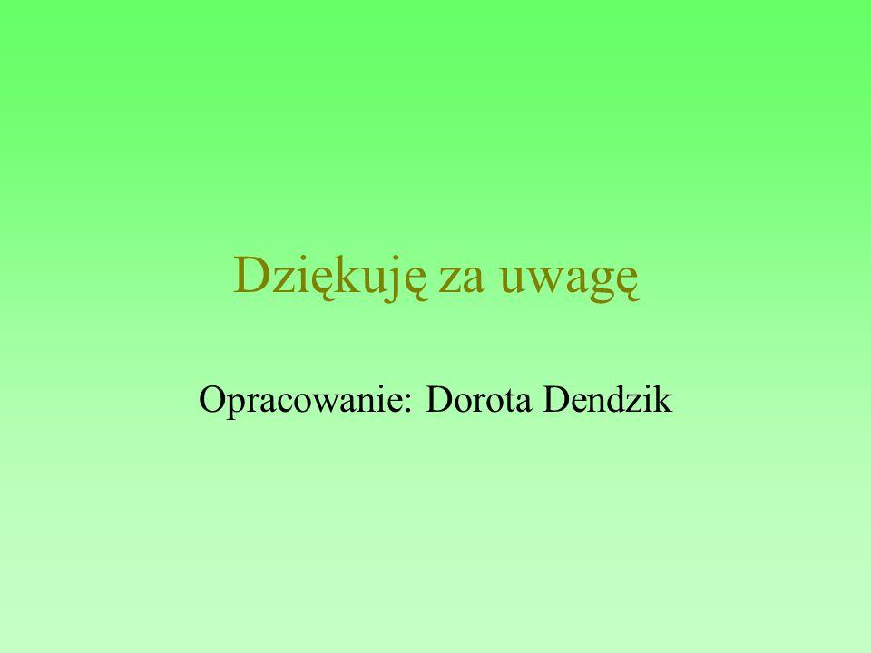 Opracowanie: Dorota Dendzik