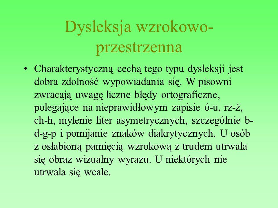 Dysleksja wzrokowo-przestrzenna
