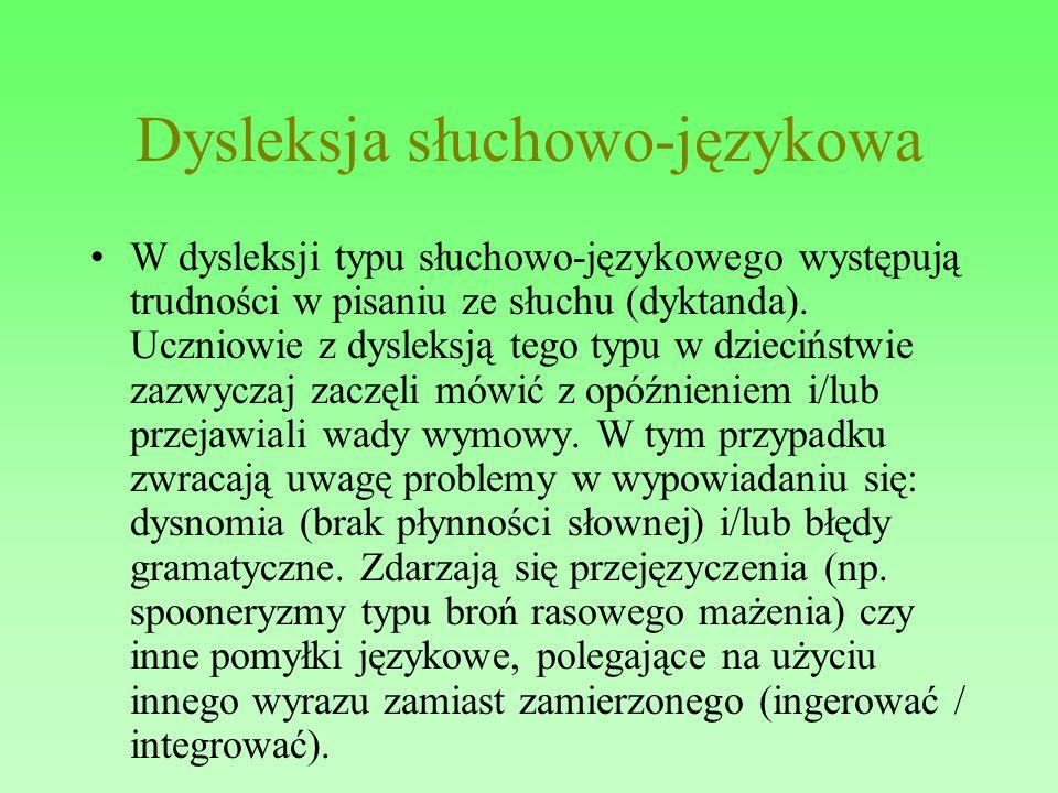 Dysleksja słuchowo-językowa