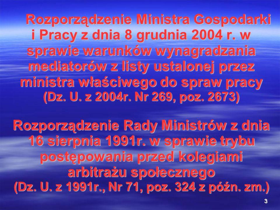 Rozporządzenie Ministra Gospodarki i Pracy z dnia 8 grudnia 2004 r