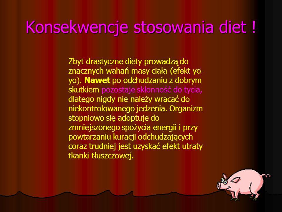Konsekwencje stosowania diet !