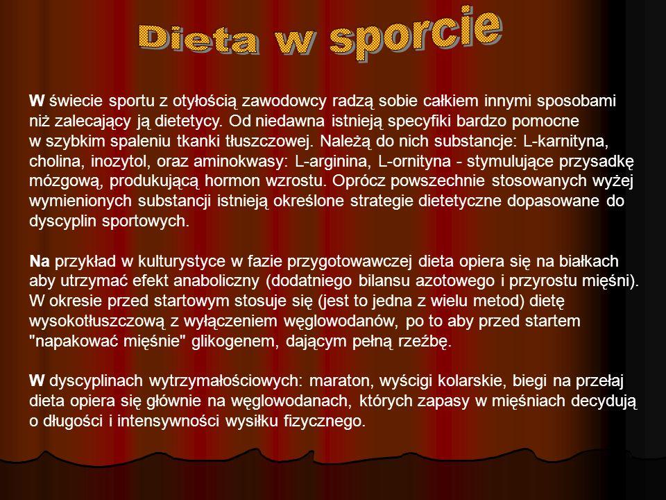 Dieta w sporcie Dieta w sporcie