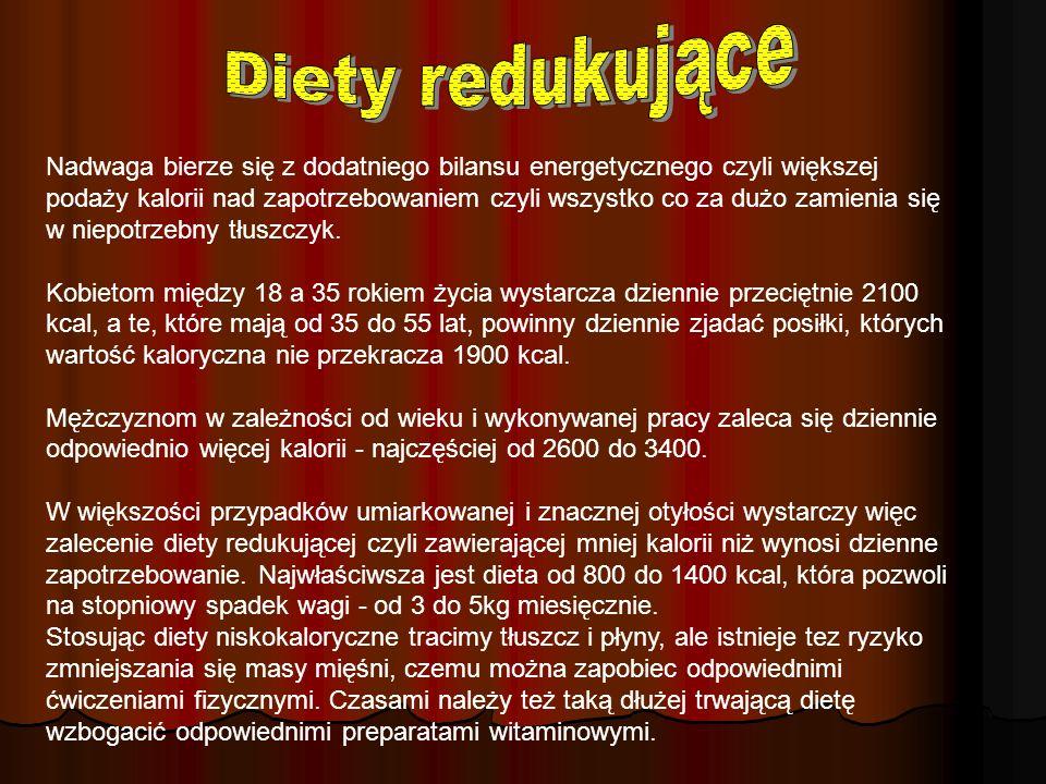 Diety redukujące Diety redukujące