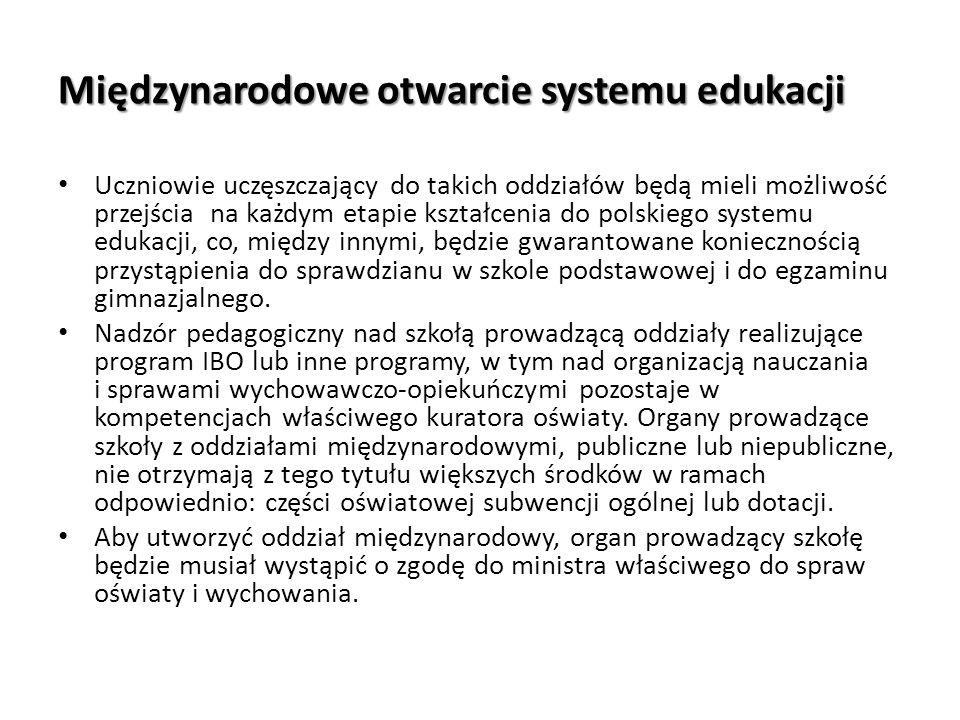 Międzynarodowe otwarcie systemu edukacji