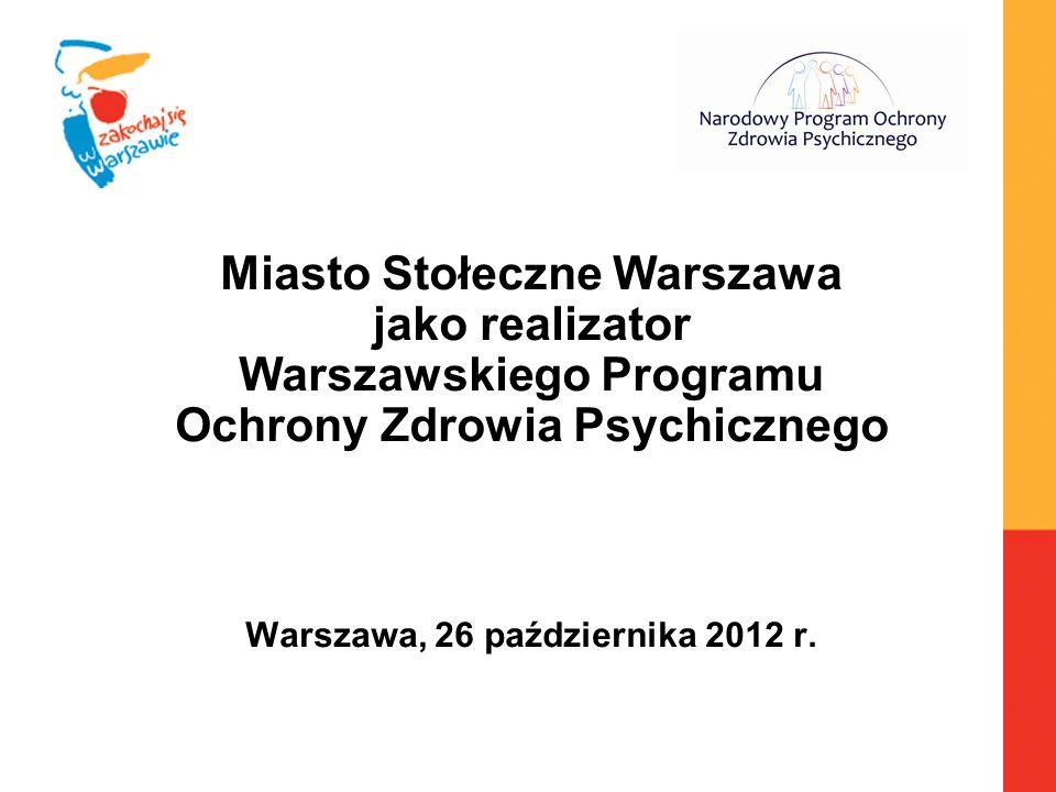 Miasto Stołeczne Warszawa jako realizator