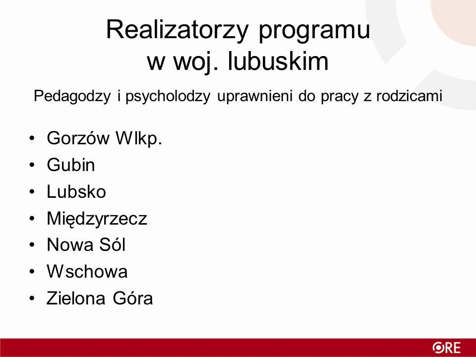 Realizatorzy programu w woj. lubuskim