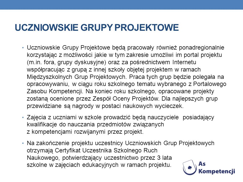 Uczniowskie Grupy Projektowe