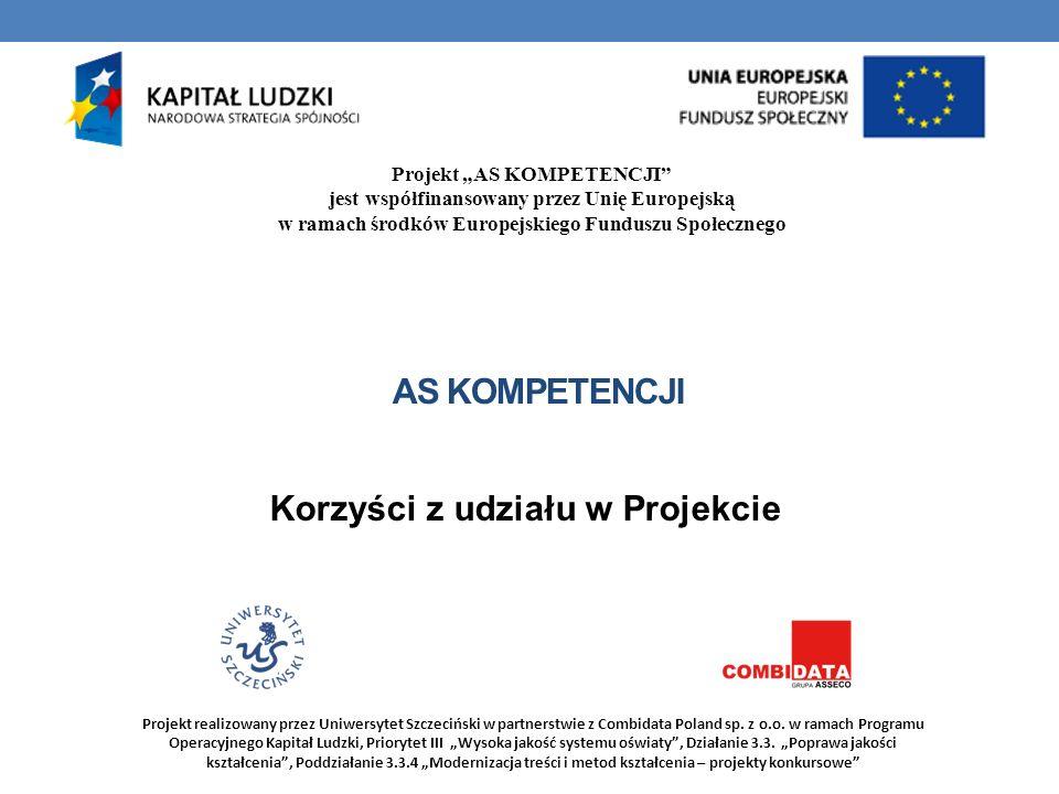 Korzyści z udziału w Projekcie