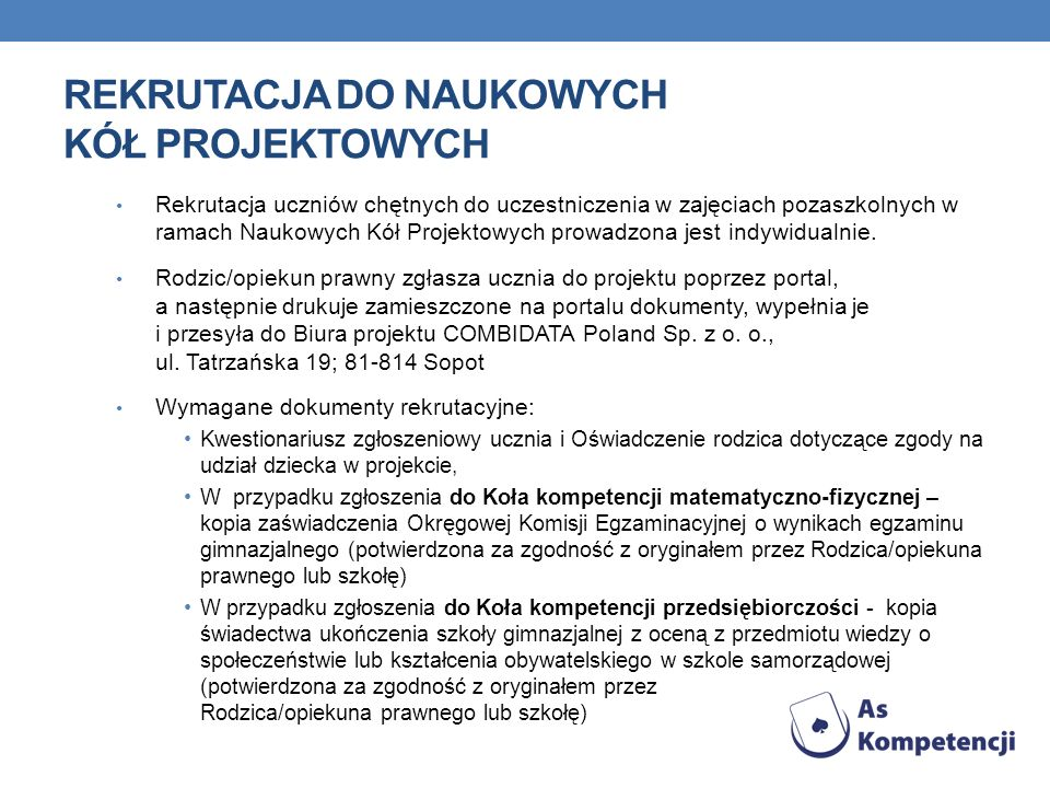 Rekrutacja do Naukowych Kół Projektowych