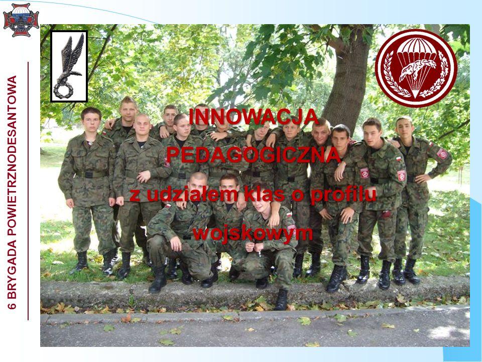 INNOWACJA PEDAGOGICZNA z udziałem klas o profilu wojskowym