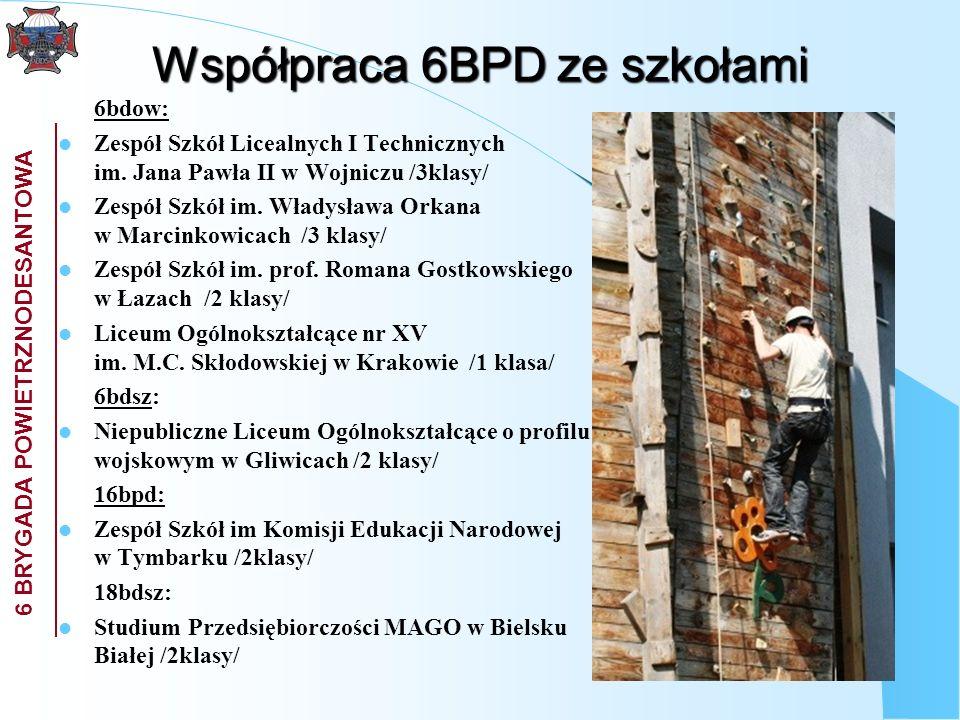 Współpraca 6BPD ze szkołami