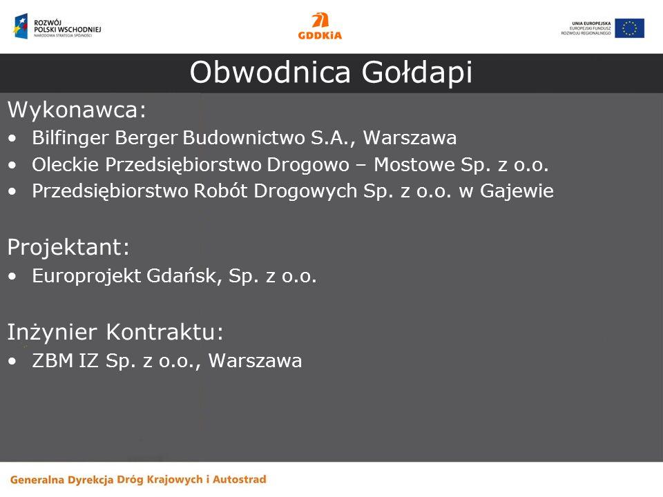 Obwodnica Gołdapi Wykonawca: Projektant: Inżynier Kontraktu: