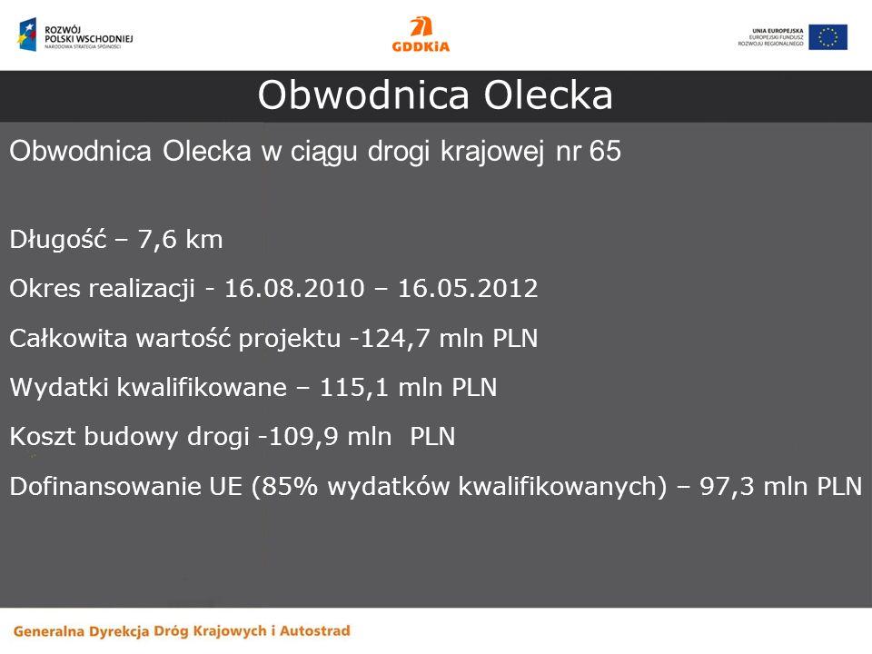 Obwodnica Olecka Obwodnica Olecka w ciągu drogi krajowej nr 65